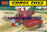 Corgi Toys 1111 MF Combine Harvester Farm Large Size Poster Advert Leaflet Sign