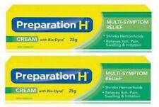 2 X Canadian PREPARATION H CREAM Bio Dyne Multi Symptom Relief 25g Each-Exp 2022