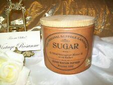 Terra Cotta Sugar Canister Vintage Henry Watson Pottery Founded 1800 & Wood Lid
