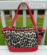 COACH Ocelot Leopard Animal Print Park Carryall Tote F23278