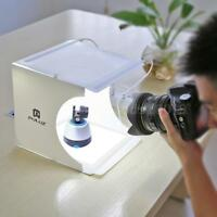 Studio fotografico Mini Kit portatile 2 luce LED + fondali foto piccoli oggetti