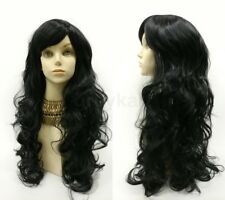 """Long Wavy Color Wig with Bangs Anime Cosplay Costume 25"""""""