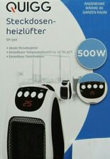 Steckdosenheizlüfter Timer LED Thermostat Heizlüfter 500W Heizgerät Heizung NEU