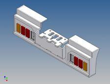 Hs3l8-4 - Posteriore Paraurti per TAMIYA CAMION 1:14 3-Camion per 2x8 3mm LED