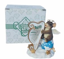 Charming Tails figurine fitz floyd mouse anthropomorphic Harp Herald angel sing