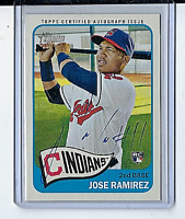 2014 Topps Heritage High # Jose Ramirez Real One Autograph Rookie On-Card Auto