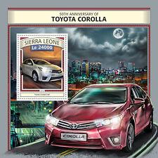 SIERRA LEONE 2016 Gomma integra, non linguellato TOYOTA COROLLA e160 1v S/S AUTO AUTOMOBILISMO FRANCOBOLLI