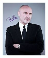 PHIL COLLINS SIGNED AUTOGRAPHED A4 PP PHOTO POSTER