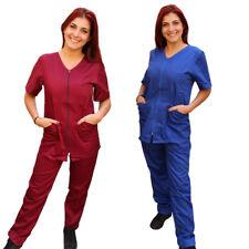 Divise Complete,da lavoro Donna,Sanitaria,con Zip,2 COLORI, Casacca E Pantalone
