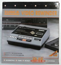 SUNCA VHS Video Cassette Tape Rewinder with box جهاز تنظيف و ترجيع شرائط الفيديو