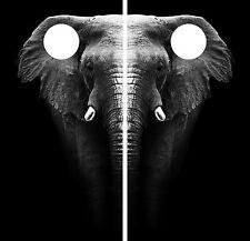 Elephant Jungle CORNHOLE WRAP SET High Quality Vinyl Board DECAL