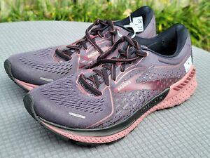 Brooks Womens sz 9 Adrenaline GTS 21 1203291B050 Black Raspberry Running Shoes