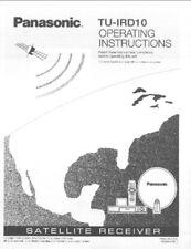 Panasonic TU-IRD10 Satellite Receiver Owners Instruction Manual