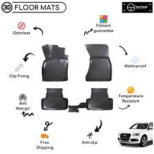 Custom Molded Rubber Floor Mat for AUDI Q5 SUV 2008-2016 (Black)