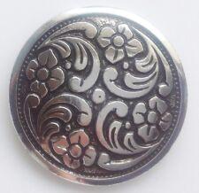 serre foulard vintage couleur argent brillant gravé fleur en relief rond 568