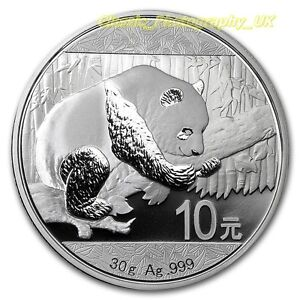 PANDA 2016 .999 PURE Silver Chinese Panda Uncirculated 30g SILVER Bullion Coin