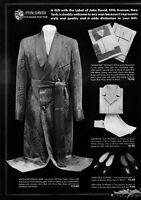 1935 John David men's clothing New York City robes shoes photo Print Ad   adL43
