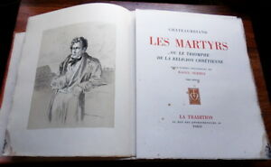 CHATEAUBRIAND LES MARTYRS  2 VOL ILLUSTRATION EAUX FORTES RAOUL SERRES N°179*