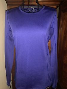 Ladies Patagonia Blue Capilere Baselayer Shirt Sz XS