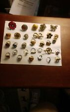 Assorted lot of costume jewelry rings.