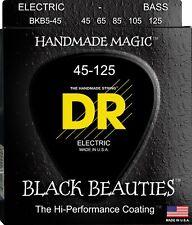 DR BKB5-45 BLACK BEAUTIES COATED BASS STRINGS, MEDIUM GAUGE 5's  45-125