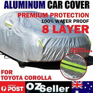 Wind Waterproof Aluminum Car Cover Anti-Bird Dropping For Corolla Hatch