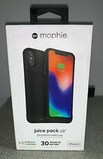 Mophie Juice Pack Air Battery Apple iPhone X & XS BLK WIRELESS Charging Case New