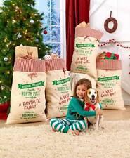 "New oversized gift sack  ""Fantastic Family"" Canvas gift bag New large gift bag"