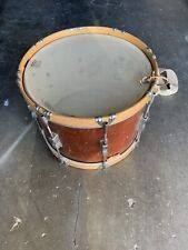 69's Ludwig Mahogany Wood Parade Drum marching snare complete 6 bracket 14""