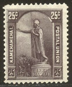 HAWAII #47 Mint - 1883 25c Dark Violet ($160)