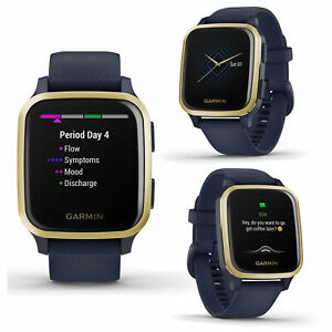 Garmin Venu SQ Navy Light Gold Smart GPS Running Swim Cycling Sports Music Watch