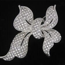 Rhinestone Bow Tie Brooch Pin Wedding Bridal Brooch Pin Garment Accessories