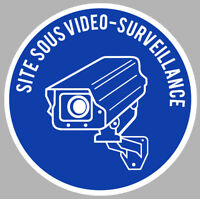 VIDEO SURVEILLANCE PROPRIETE ALARME CAMERA SECURITE 12cm STICKER VA056