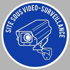 VIDEO SURVEILLANCE PROPRIETE ALARME CAMERA SECURITE 9cm STICKER VA056