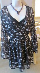 NWT womens Abercrombie & Fitch S animal print blouse V-neck faux wrap top 2 pc.