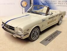 1/24 Franklin Mint White 1964 Mustang Convertible Indy 500 Pace Car B11E025