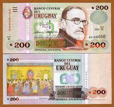 Uruguay, 200 Pesos Uruguayos, 2000, Serie B, P-77b, UNC