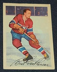 "1953-1954 PARKHURST - JAMES ""BUD"" MACPHERSON MONTREAL CANADIENS HOCKEY CARD #22"