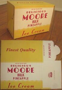 Pineapple Ice Cream 1940s Art Deco Advertising Box - Moore Dairy - Lancaster, PA