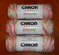 Caron Simply Soft Baby Yarn Lot Of 3 Skeins (Li'l Bouquet #05004) 2.8 oz.