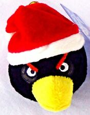 Angry Bird Movie Black Bird Santa Plush Doll Christmas Tree Ornament Holiday