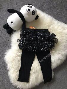 Kids Girls Ruffle Frill Net Flower Leggings Pants Thin Trousers Age1-4 years New