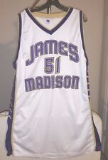 James Madison Dukes NCAA Russell White #51 size 52 Basketball Jersey