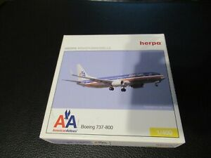Herpa 1:400 American Airlines 737-800WL Fair Condition in Box