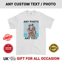 Personalised T-Shirt Printed Photo Stag Hen Birthday Kids Mens Womens Tee