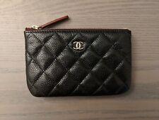 Chanel Mini O-case Black Caviar Wallet