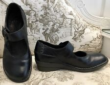 Dr Martens, Uk Size 6, Black Leather, Mary-Jane Style, Wedge Shoes