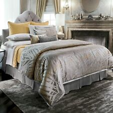 NEW Jennifer Lopez Modern Miami Queen Comforter Set 4 Piece Silver Gray
