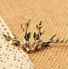 Deer Head Earring Set, Bronze-tone antlers stud earrings