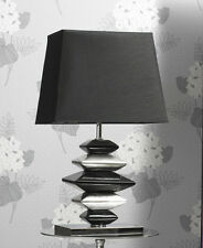 New Contemporary Black and Silver Pebbles Lamp - 60cm Height